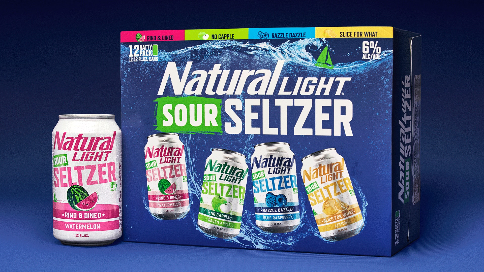 This Natural Light Sour Seltzer Variety Pack Includes 4 Tart Summertime Sips