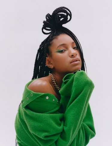 Willow Smith wears a Louis Vuitton sweater; Cartier necklace.