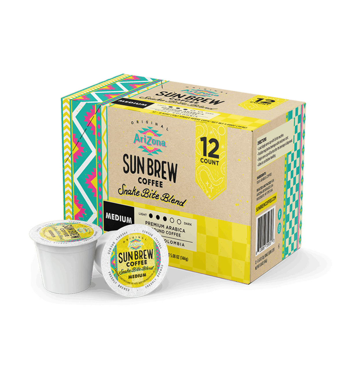 AriZona Sun Brew Coffee 12-Count K-Cup Pack In Snake Bite