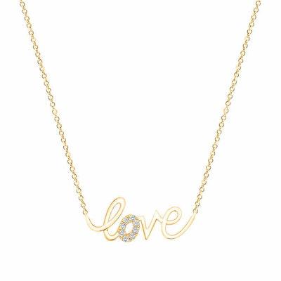 Gold Love Pendant