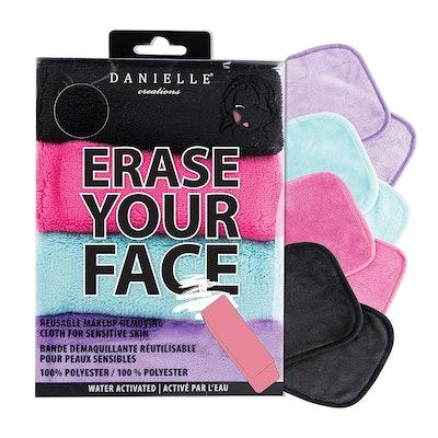 Danielle Enterprises Erase Your Face Make-up Removing Cloths (4-Pack)