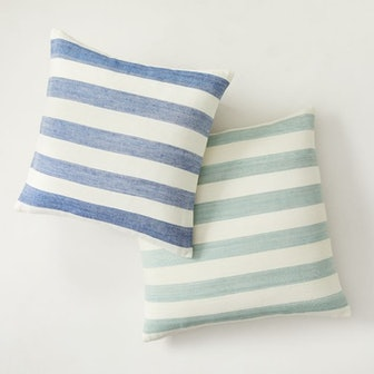 Heather Taylor Home Milos Stripe Silk Pillow Cover