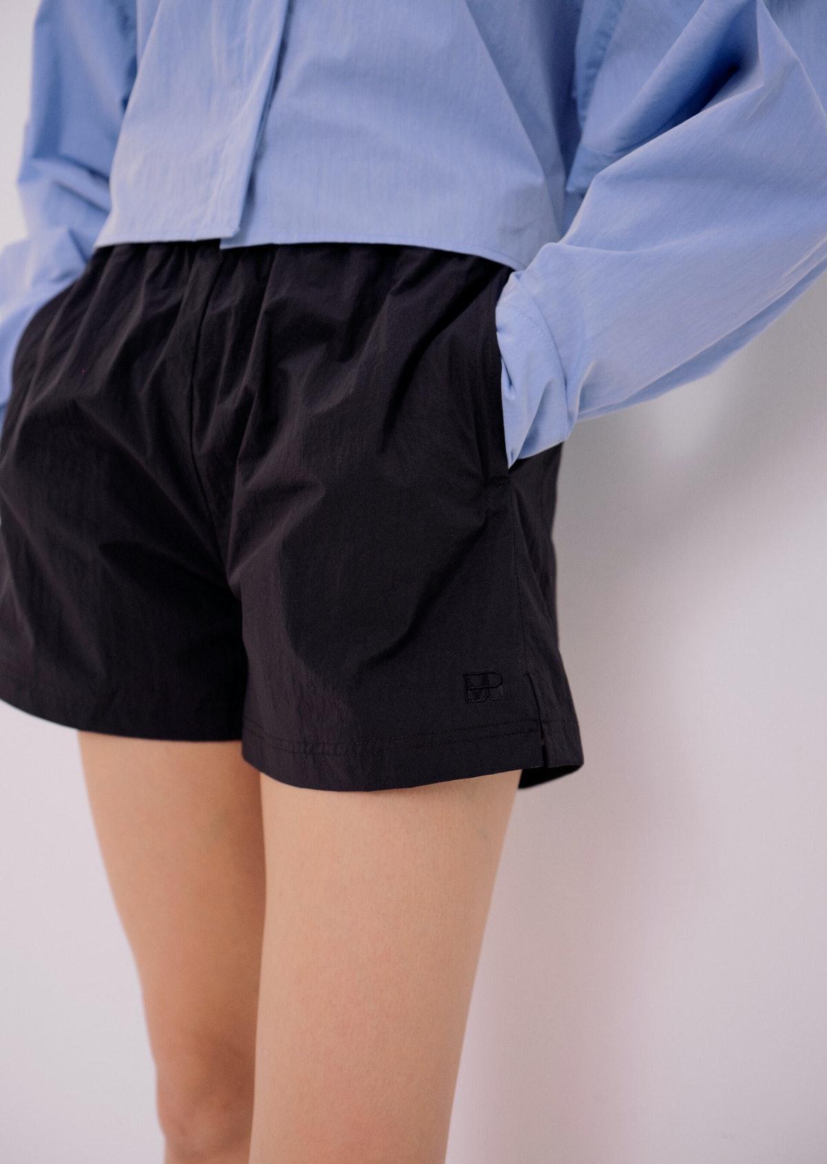 Nylon Shorts in Black
