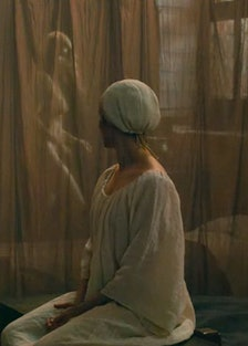 Virginie Efira peeping in Benedetta