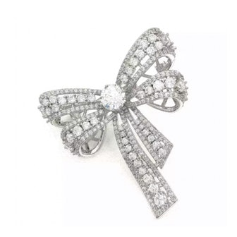Puffy Double Bow Brooch