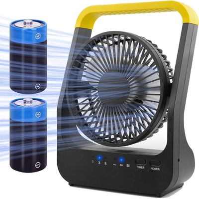Gazeled Portable Battery Powered Fan With Timer
