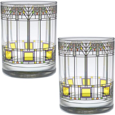 Frank Lloyd Wright Double Old Fashioned Glasses (Set Of Two)