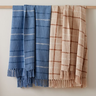 Heather Taylor Home Double Woven Plaid Throw