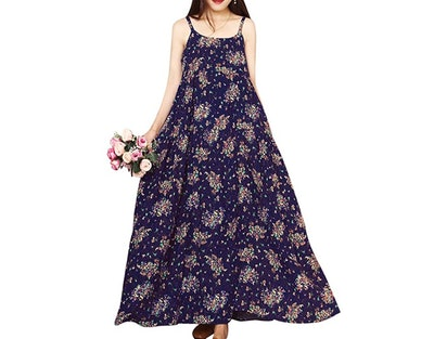 YESNO Casual Floral Print Dress