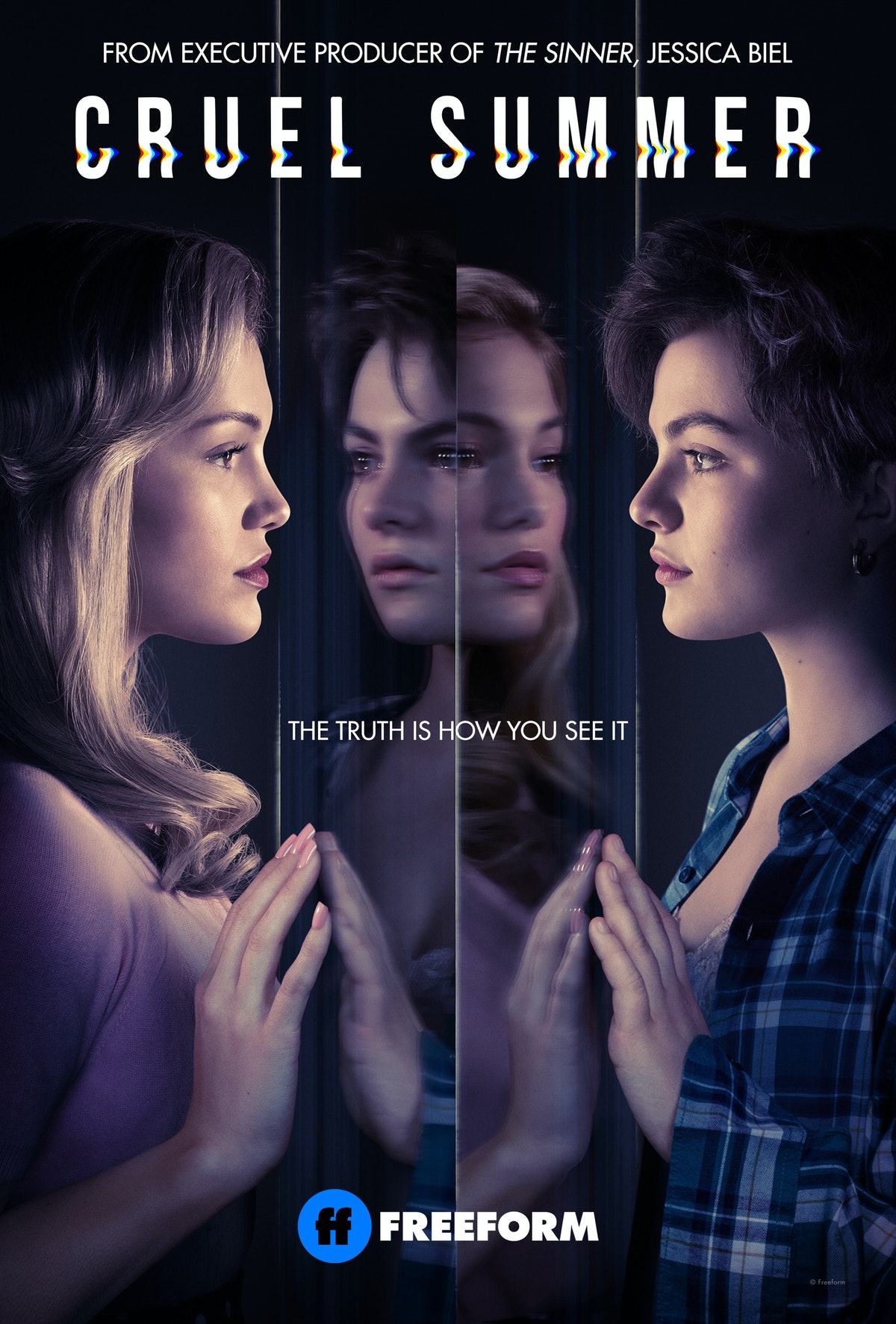OLIVIA HOLT as Kate and CHIARA AURELIA as Jeanette in Freeform's 'Cruel Summer'