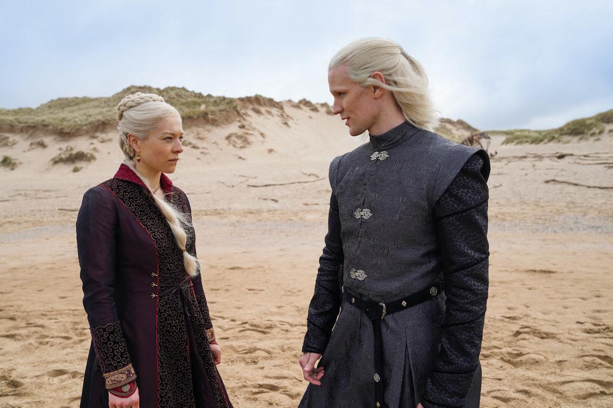 Matt Smith and Emma D'Arcy as Daemon and Rhaenyra Targaryen in 'House of the Dragon'