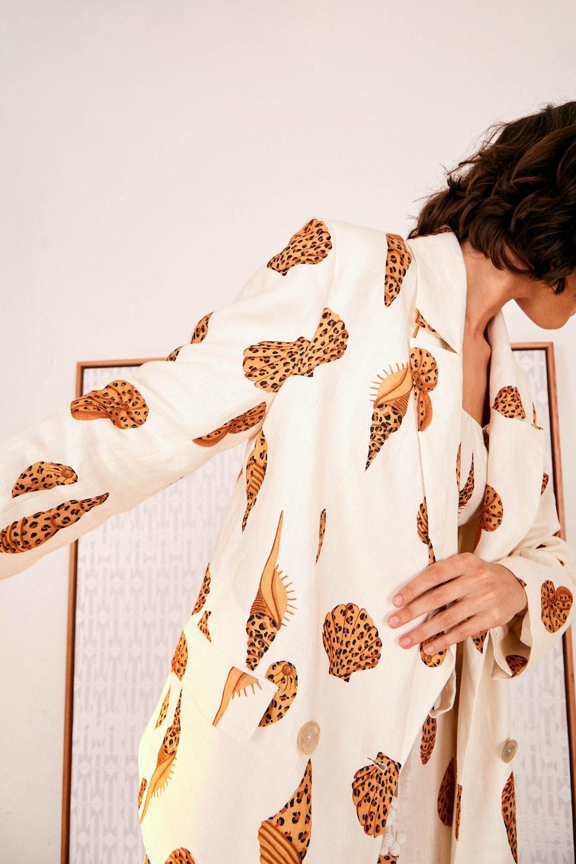 Leopard Shell Blazer Size