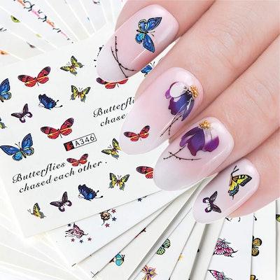 KINGMAS Nail Art Stickers (50 Sheets)