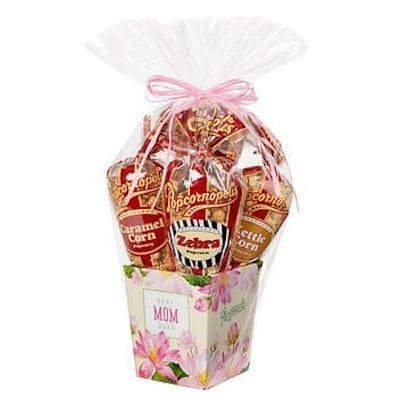 Popcornopolis Gourmet Popcorn 5-Cone Mother's Day Gift Basket