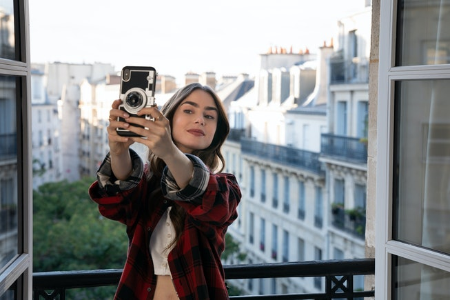 Lily Collins as the famously oblivious American Emily in Netflix's surprise hit 'Emily in Paris.'