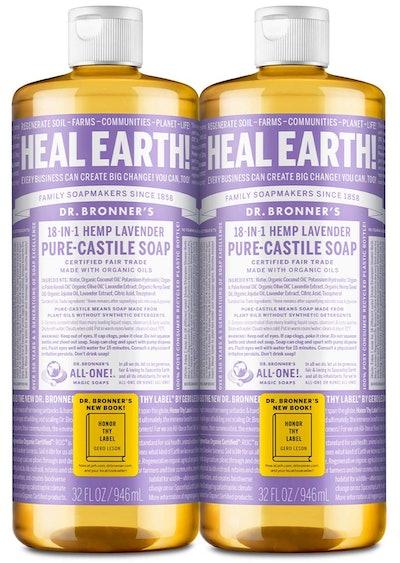 Dr. Bronner's Pure-Castile Liquid Soap, Lavender, 32 Oz. (2-Pack)