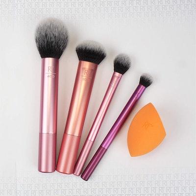 Real Techniques Makeup Brush Set with Sponge Blender (5-Pack)