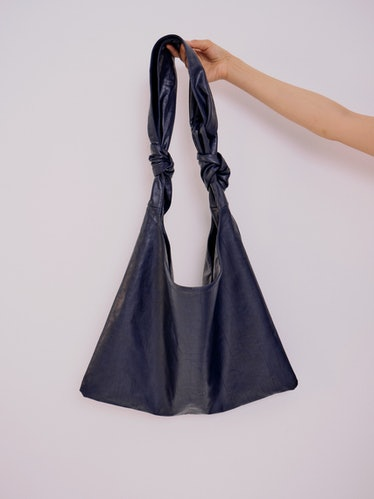 Faux Leather Ollie Bag in Navy