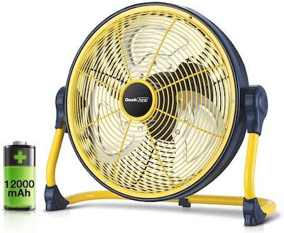 Geek Aire Battery-Operated Floor Fan