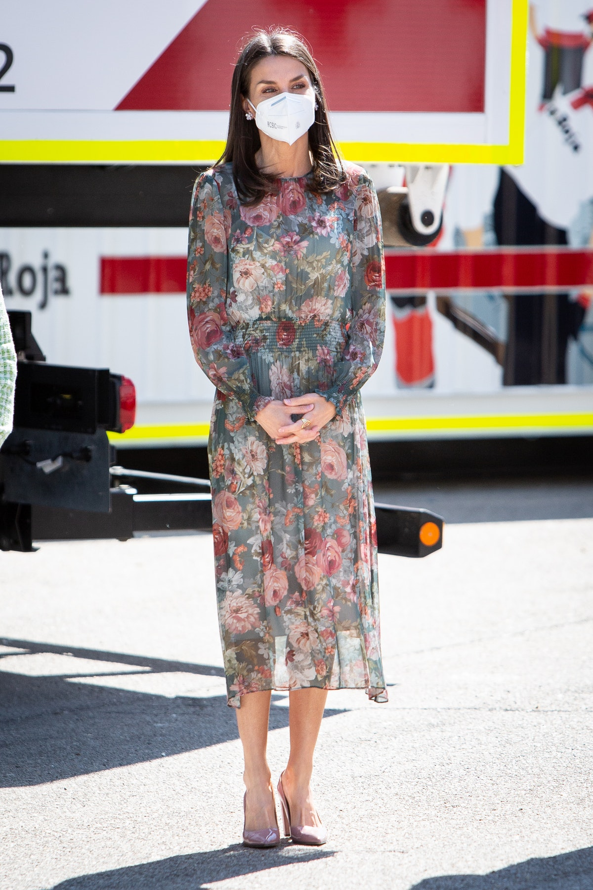 Queen Letizia of Spain attends the Red Cross Fundraising Day on May 05, 2021 in Madrid, Spain.