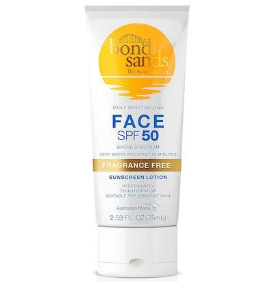 Bondi Sands Fragrance Free Daily Sunscreen Face Lotion SPF 50