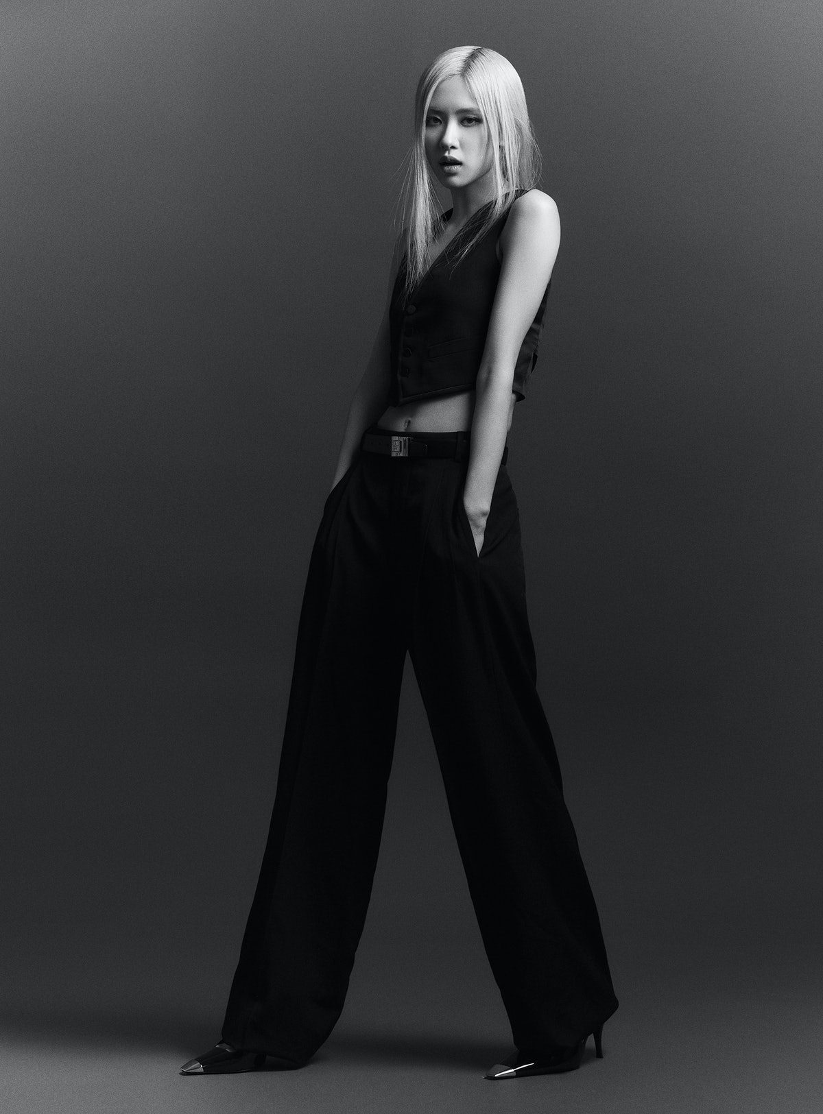 Rosé of Blackpink in Saint Laurent by Anthony Vaccarello