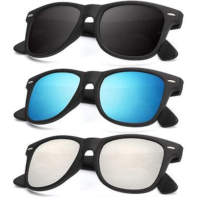 KALIYADI Matte Finish Sunglasses (3-Pack)