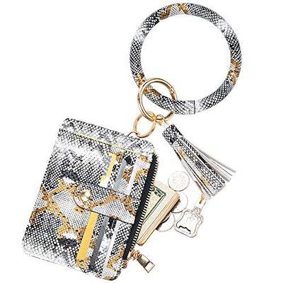 COOLANS Wristlet Bracelet Keychain Card Holder