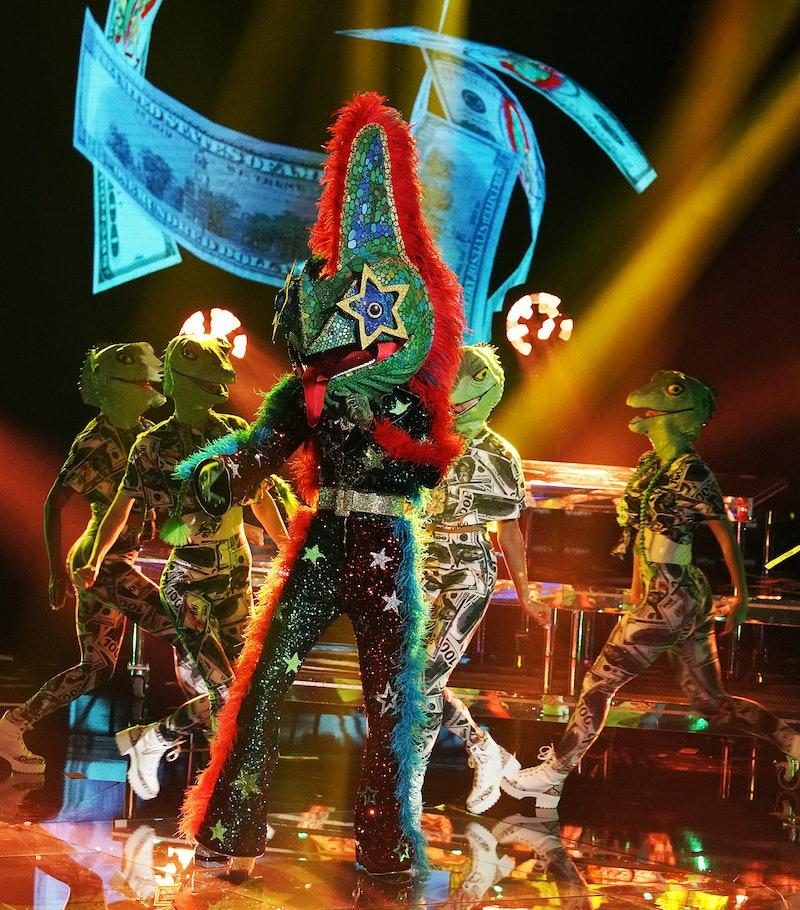 The Chameleon performs in 'Masked Singer' Season 5, via FOX press site.