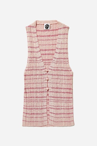 Tweed Rib Long Waistcoat