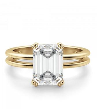 Geneva Emerald Cut Engagement Ring
