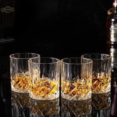KANARS Old Fashioned Whiskey Glasses (Set Of Four)