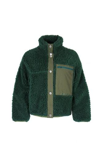 Green Fleece Jansport Jacket