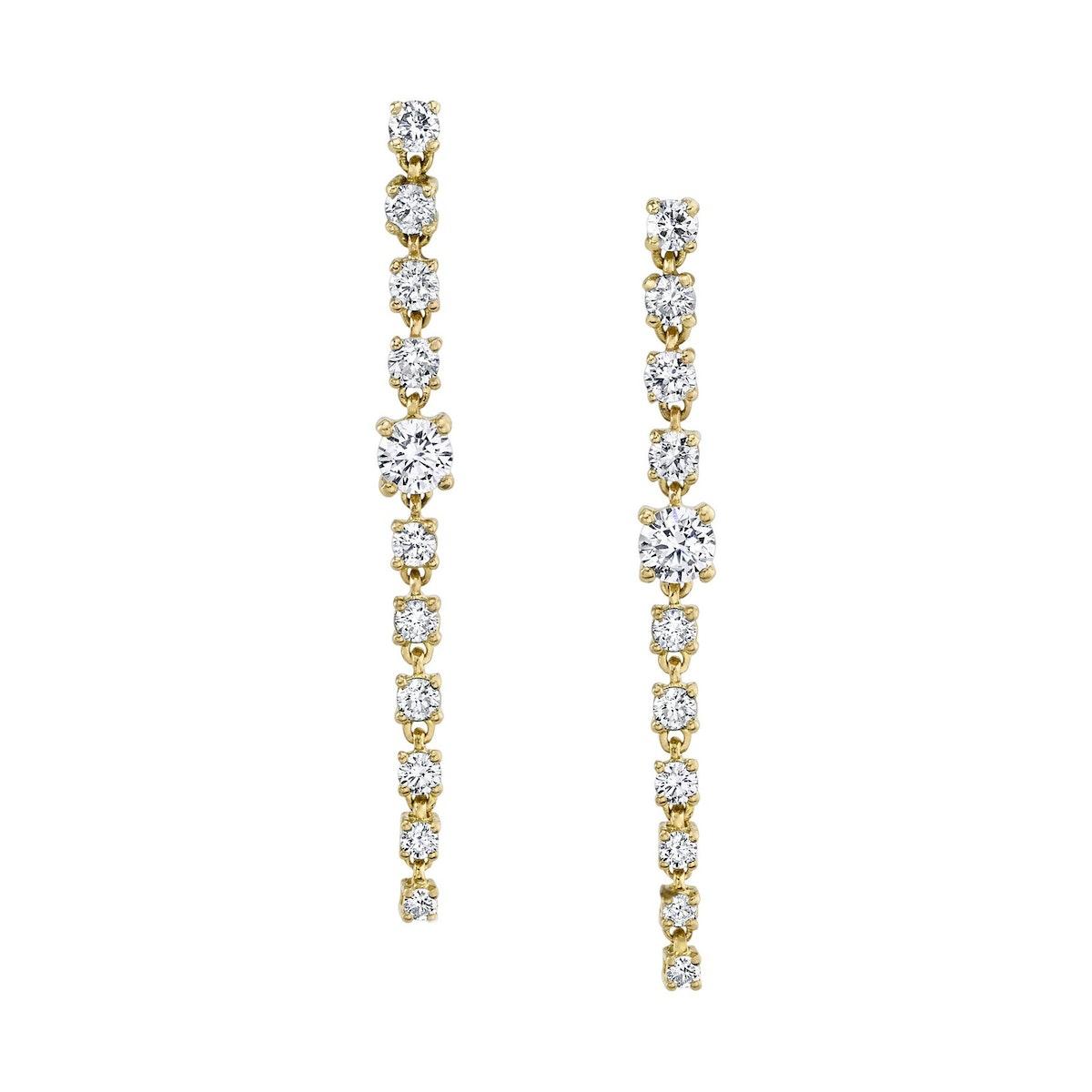 Short Diamond Rope Earrings
