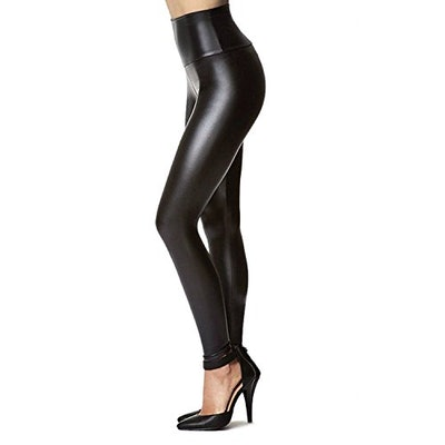 Tagoo Women's Stretchy Faux Leather Leggings