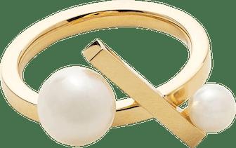 18kt Yellow Gold Akoya Pearl Ring