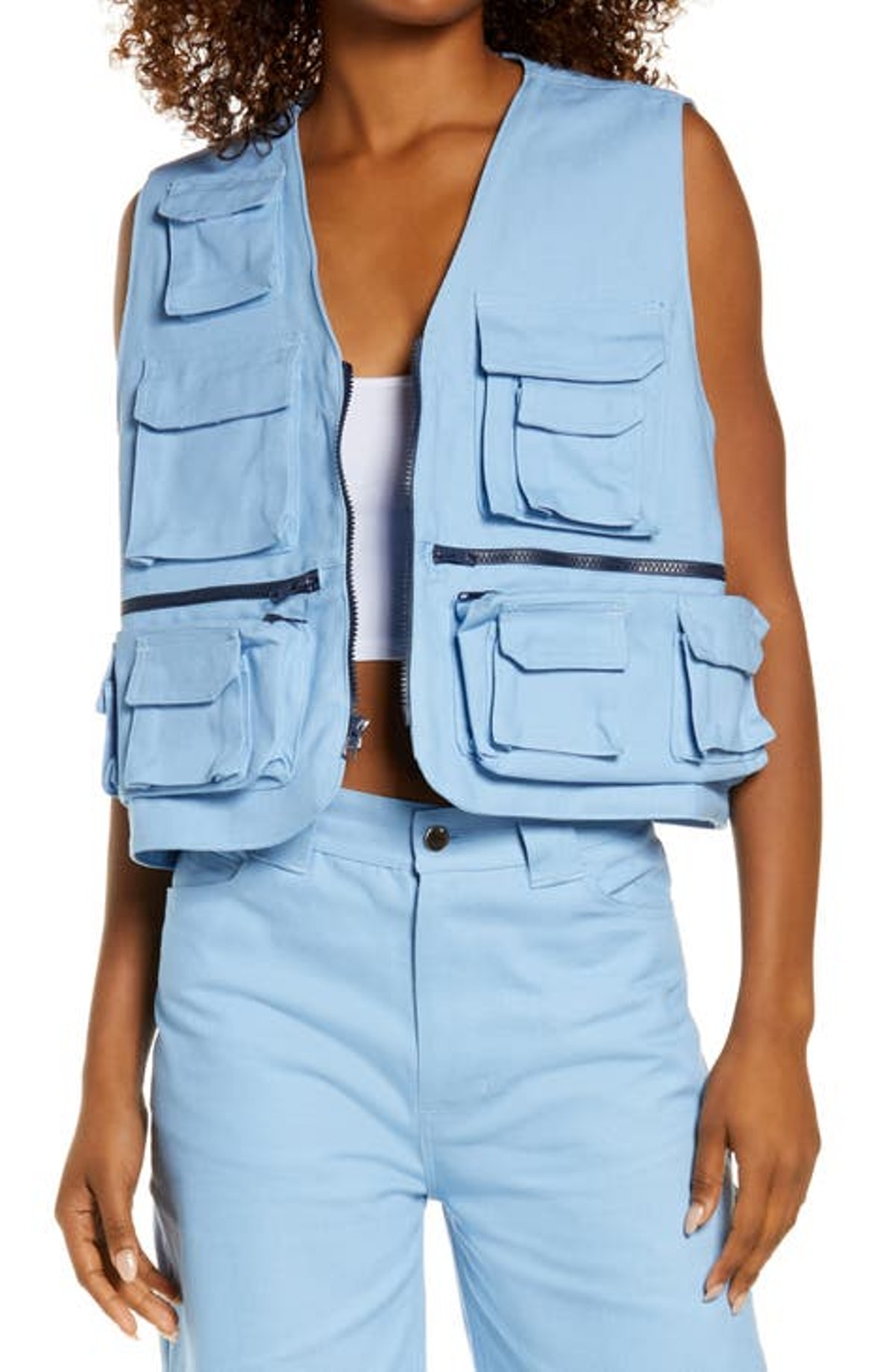 Oversize Canvas Utility Vest