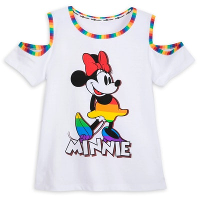 Minnie Mouse Cold Shoulder Pride Tee
