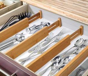 Royal Craft Wood Expandable Drawer Dividers (4-Pack)