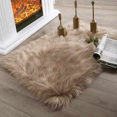 Ashler Faux Fur Area Rug