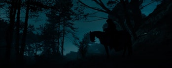The Ringwraith on horseback in Lord of the Rings: Fellowship of the Ring