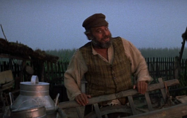 'Fiddler on the Roof' stars Topol as Tevye, the patriarch of his family.