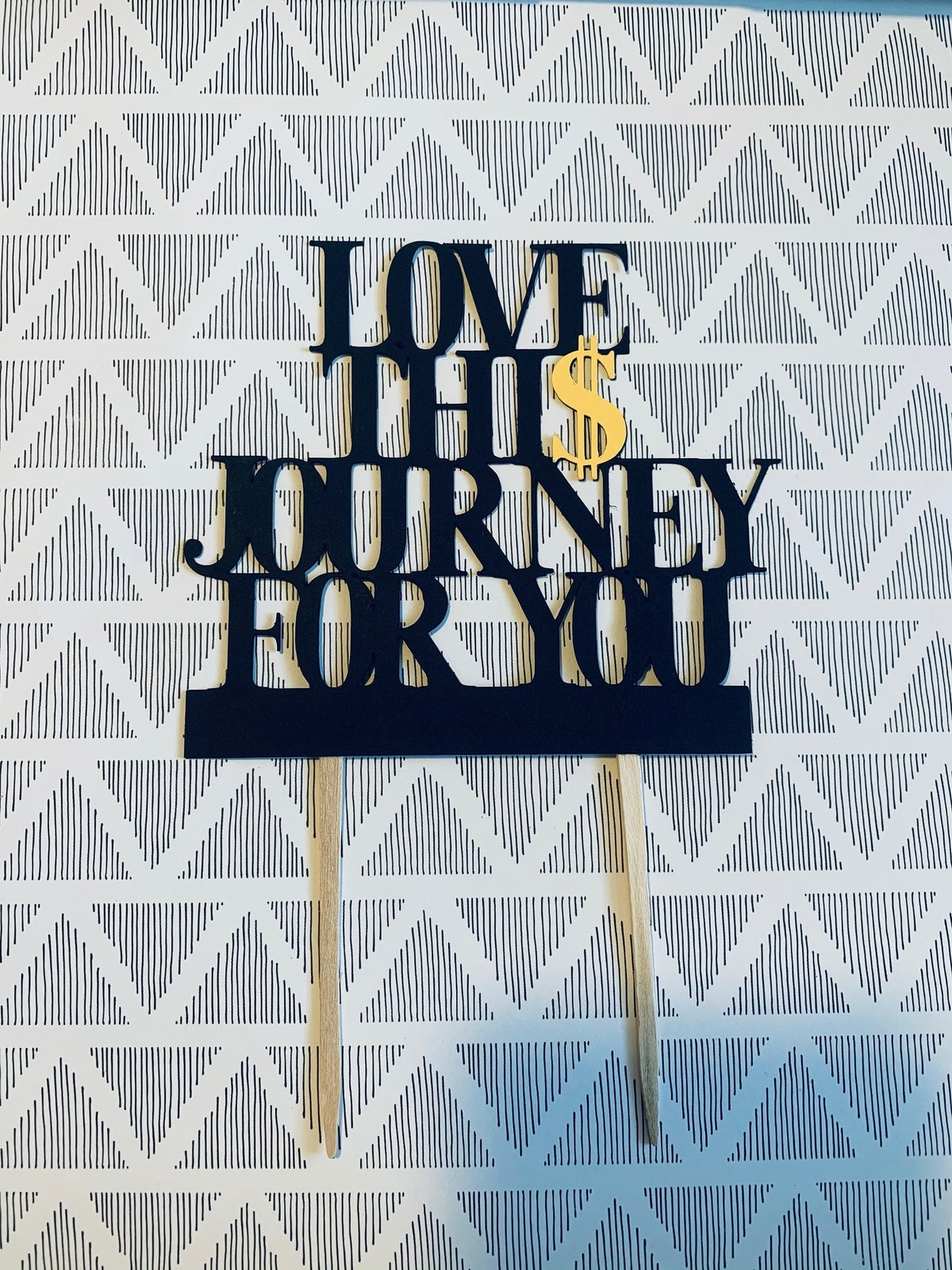 Schitt's Creek Cake Topper Love This Journey For You Party Decor Supplies