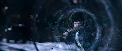 Chloe Sampson uses her powers 'Jupiter's Legacy,' via Netflix press site.