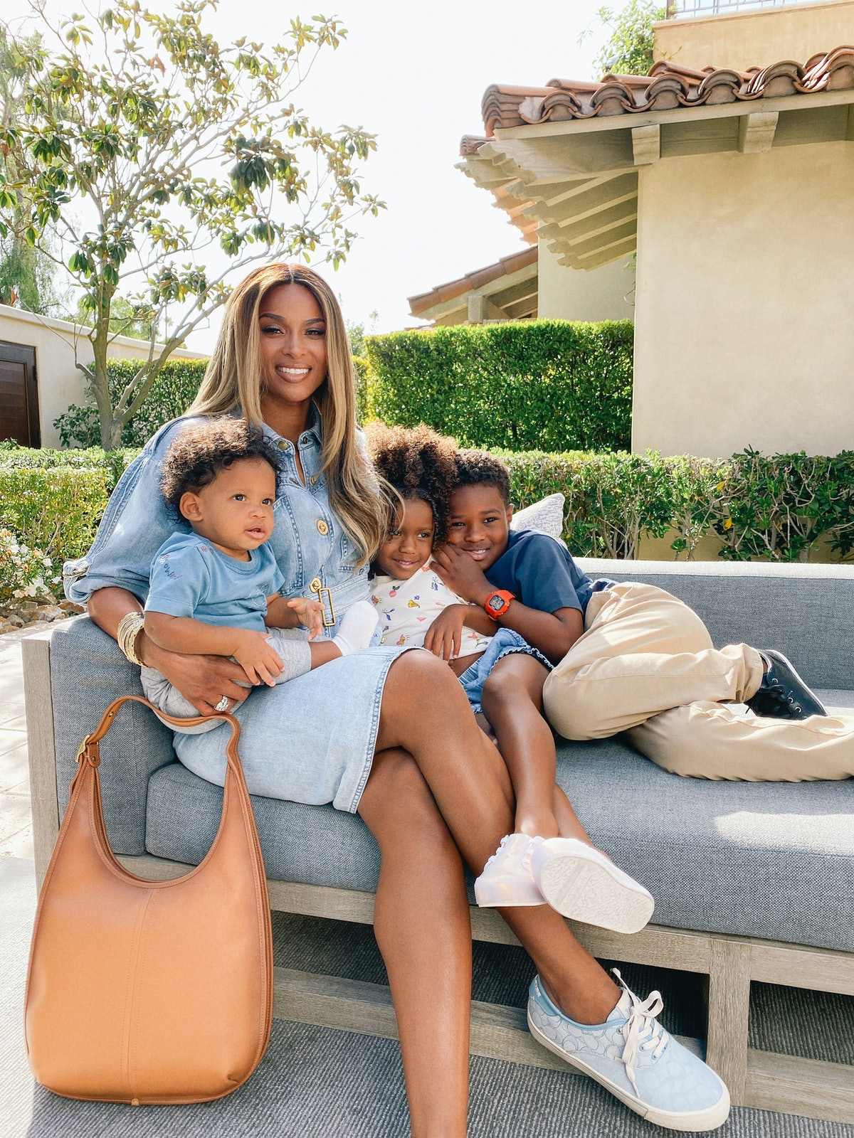 Ciara with her children