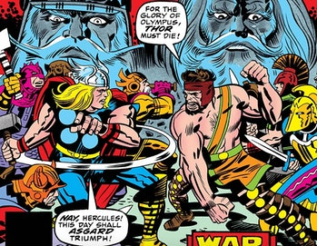 Thor fighting Hercules on the cover of Thor Annual Vol 1 #5