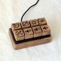 Someone made a mechanical keyboard out of wood.