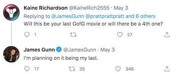 James Gunn on Twitter