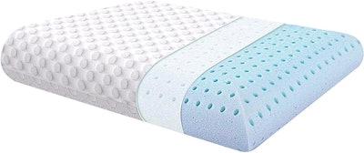 Milemont Ventilated Gel Memory Foam Pillow