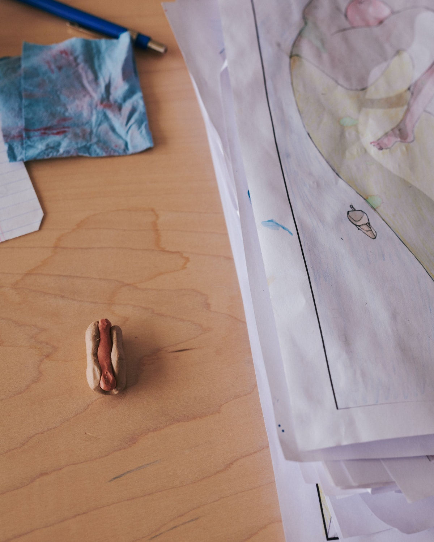 Details inside Ivy Haldeman's studio.
